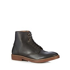 H By Hudson - Black lace up boots