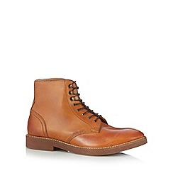 H By Hudson - Light tan lace up boots