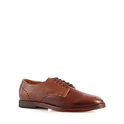 H By Hudson - Brown leather lace up brogues