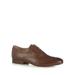 H By Hudson - Dark brown leather lace up brogues