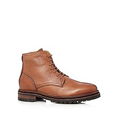 H By Hudson - Tan leather lace up boots