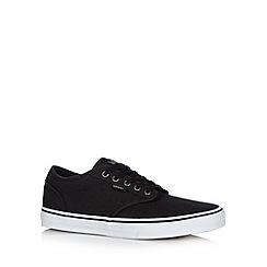 Vans - Black canvas lace up trainers