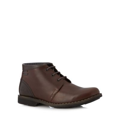 Chatham Marine Brown leather lace up boots - . -