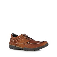 Chatham Marine - Tan leather apron front shoes