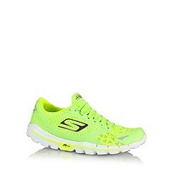 Skechers - Neon lime 'GORun 3 Nite Owl 2.0' trainers
