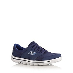 Skechers - Navy 'Go Walk 2 stance' mesh trainers