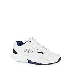 Skechers - White leather 'Go Train Supreme' trainers