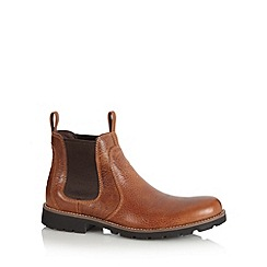 Rockport - Tan leather chelsea boots