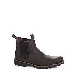 Rockport - Dark brown leather chelsea boots