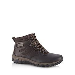 Rockport - Chocolate leather waterproof walking boots