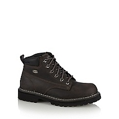 Skechers - Big and tall near black 'bully ii' leather work boots