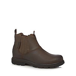 Skechers - Big and tall brown 'blaine orson' leather boots