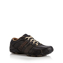 Skechers - Big and tall black 'diameter vassell' shoes