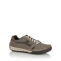 Skechers - Brown 'Floater' suede panel trainers