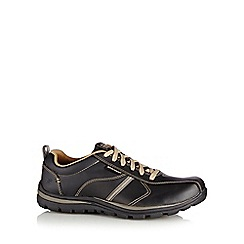 Skechers - Black leather 'Superior' trainers