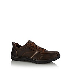 Skechers - Big and tall brown 'superior' lace up trainers