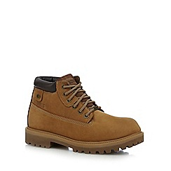 Skechers - Tan leather 'Sargeants Verdict' lace up boots