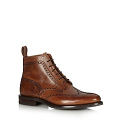 Loake - Tan leather brogue boots