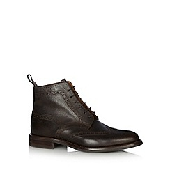 Loake - Chocolate leather brogue boots