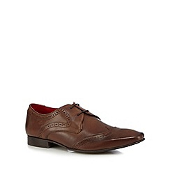 Base London - Brown leather lace up brogues