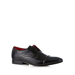 Base London - Black leather toe cap lace up shoes