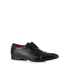 Base London - Black leather toe cap lace up shoes