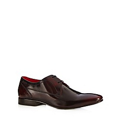 Base London - Wine leather shine lace up shoes