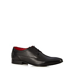 Base London - Black leather shine lace up shoes