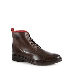 Base London - Brown leather toe cap boots
