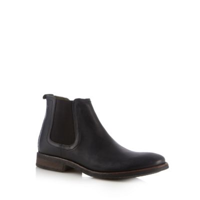 Base London Black leather chelsea boots - . -