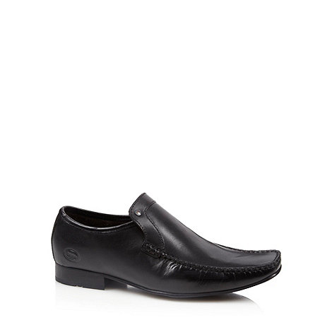 Base London - Black apron front slip on shoes