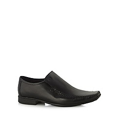 Base London - Black leather lace up loafers