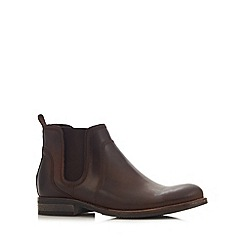 RJR.John Rocha - Designer chocolate leather chelsea boots