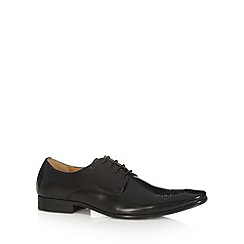 Jeff Banks - Designer black leather punched lace up shoes