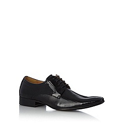Jeff Banks - Designer black leather textured shoes