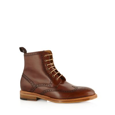 Berwick Dark brown leather brogue boots - . -