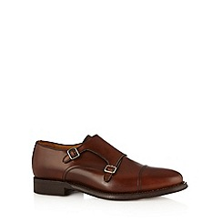 Berwick - Brown leather double monk shoes