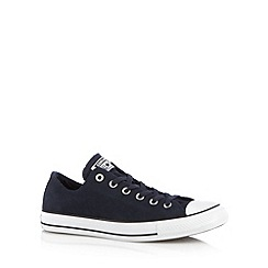 Converse - Navy suede trainers