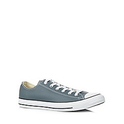 Converse - Grey leather 'All Star' trainers