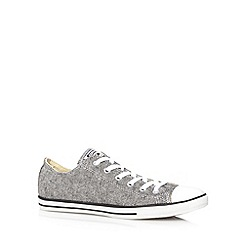 Converse - Grey herringbone 'All Star' canvas trainers