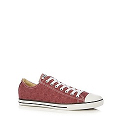 Converse - Dark red 'All Star' herringbone canvas trainers