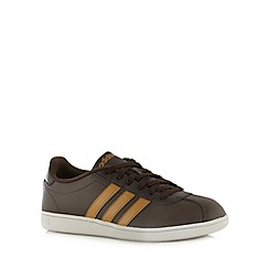 adidas - Dark brown logo 'Court' trainers