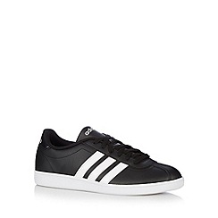 adidas - Black logo 'Court' trainers