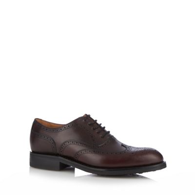 Berwick Maroon leather brogues - . -