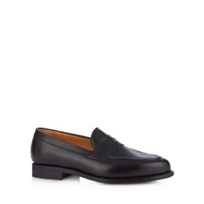 Berwick Black leather slip on loafers - . -