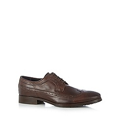 Walk London - Brown leather long wing brogues