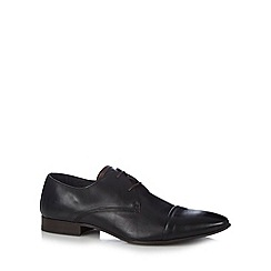 Walk London - Black leather toe cap shoes