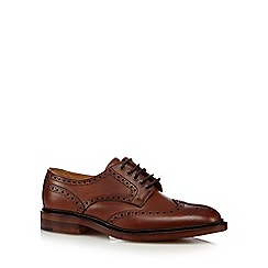 Loake - Brown leather metal eyelet lace up brogues