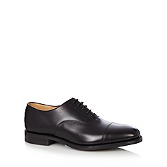 Loake - Black leather rubber sole brogues
