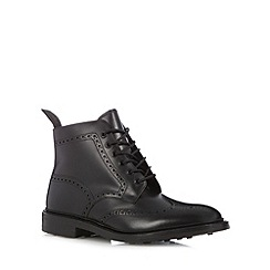 Loake - Black leather brogue boots